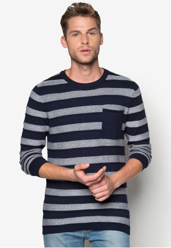 Jonas 條紋esprit outlet 香港針織長袖衫, 服飾, 服飾