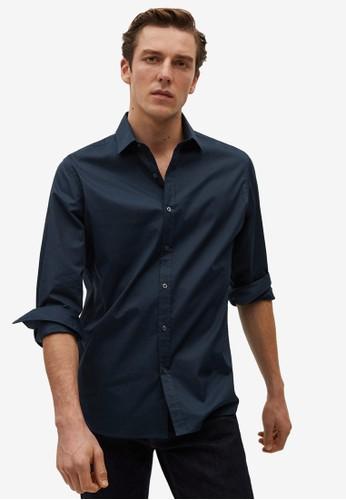 Mango Man blue Slim Fit Cotton Shirt 0C701AA411E7E8GS_1