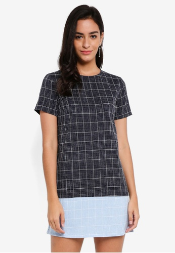 ZALORA BASICS multi Colour Block Shift Dress F21DEAA2FD7BD9GS_1