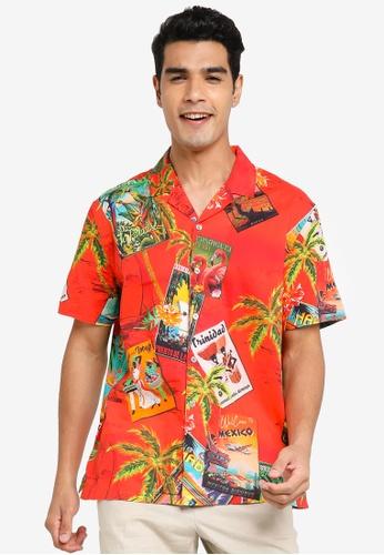 Desigual red Hawaiian Printed Shirt 03EAAAA70D6A6FGS_1