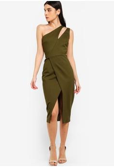 d184045f093 62% OFF Lavish Alice Cutout Neck Wrap Midi Dress HK  919.00 NOW HK  347.90  Sizes 8 10 12 14 16