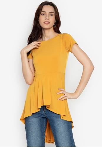 0a337e778f7e21 Shop Ashley Collection High-Low Peplum Top Online on ZALORA Philippines