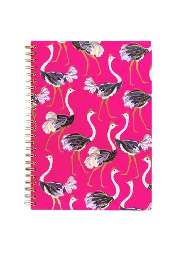 Sara Miller pink Sara Miller - A5 Notebook - Ostrich (SMIL4529) DC417HL049231AGS_1