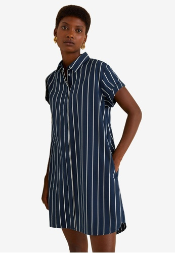 Mango navy Shirt Dress 69D9EAA5586DEEGS_1