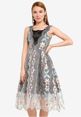 Megane black Best Frenz Ayita Embroidery Midi Dress 1A45DAA4827C88GS_1