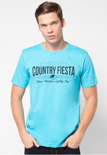 Country Fiesta blue Tshirt Short Fashion CO129AA39RAUID_1
