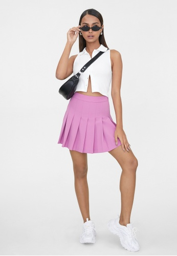 Pomelo pink Pleated Tennis Skirt - Pink 5F83CAA6B97080GS_1