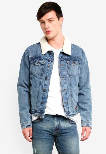 Indicode Jeans 藍色 刷毛牛仔外套 66A40AA83A995BGS_1