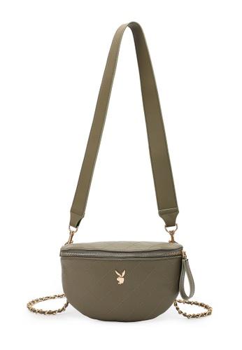 PLAYBOY BUNNY green Sling Bag 3E85CAC7BB0CAEGS_1