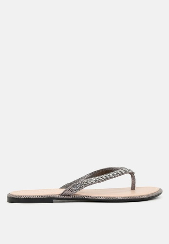 f52055d60b32 Buy London Rag Embellished Thong Sandals Online on ZALORA Singapore