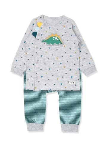 Organic mom grey and green Boys Autumn-Winte Dinosaur Pajamas 74C34KA5398093GS_1