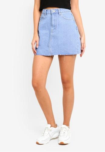 Factorie blue Classic Denim Skirt 0421CAAFA6F7C2GS_1
