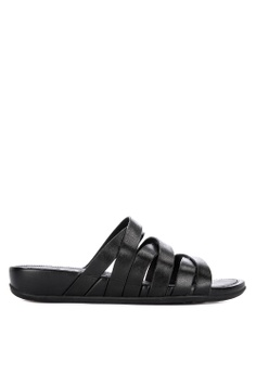 5a8f2986d Fitflop black Lumy Leather Slides 096C2SHD452A00GS 1
