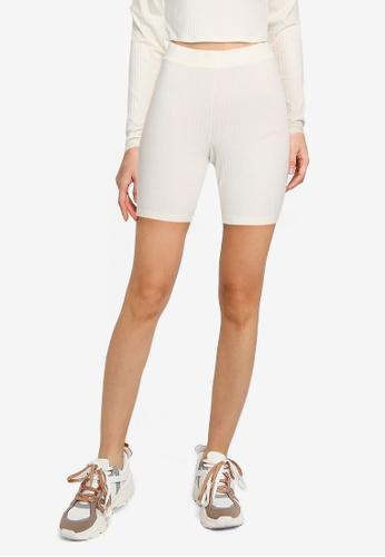 Noisy May white Livia Biker Shorts 68594AA8BD2FC2GS_1