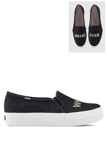 65373284919fd Buy Keds Triple Decker Embroidery Slip Ons Online on ZALORA Singapore