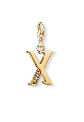 "THOMAS SABO gold Charm pendant ""letter X gold"" B076FAC2F4602EGS_1"