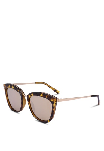 Le Specs brown Caliente 1702140 Sunglasses 8F9FBGLD5C323CGS_1