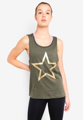Running Bare green Muscle Tank Top 70789AAE4A107CGS_1