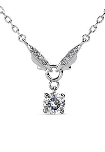 Her Jewellery silver Venus Butterfly Pendant (White Gold) - Embellished with Crystals from Swarovski® 3D7F1AC3DC7B97GS_1