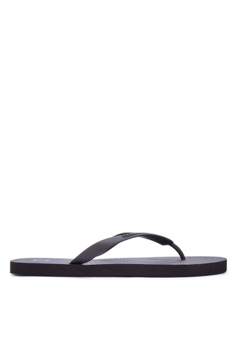 Penshoppe black Men'S Printed Flipflops PE499SH0IYZ0PH_1