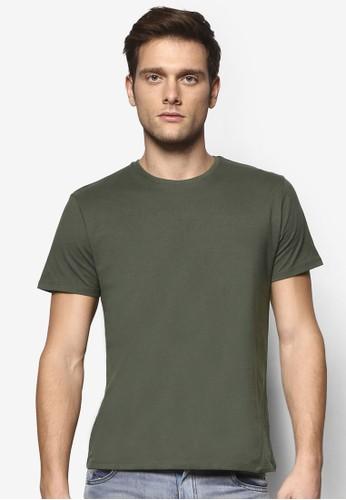 修身基本款圓esprit holdings領TEE, 服飾, T恤