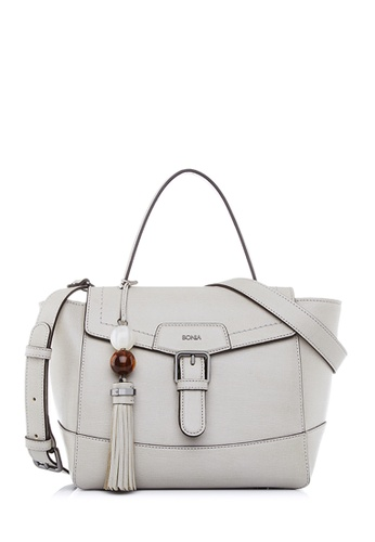 BONIA grey Light Grey Betsy Satchel M 84BFFACC7BFDF7GS_1