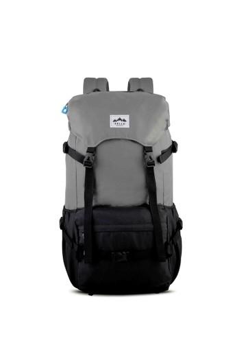 Sollu Bag's black Men's Semi Carrier Pack, WanderPack Peak Black Grey SO001AC44VMXID_1
