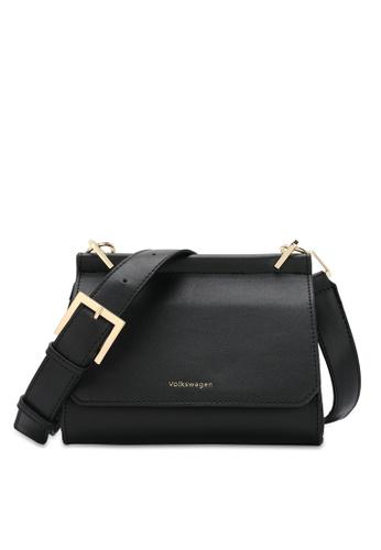 Volkswagen black Structured Flap Sling Bag 56D0BAC630C20EGS_1