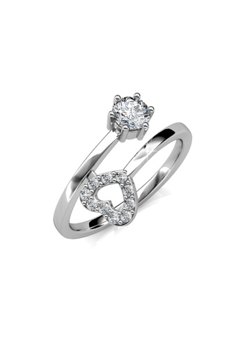 Her Jewellery silver Lasting Love Ring - Crystals from Swarovski® HE210AC0FTRQSG_1