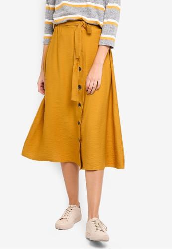 Pieces yellow Elsa Long Skirt 53DFEAAE6E4D5FGS_1