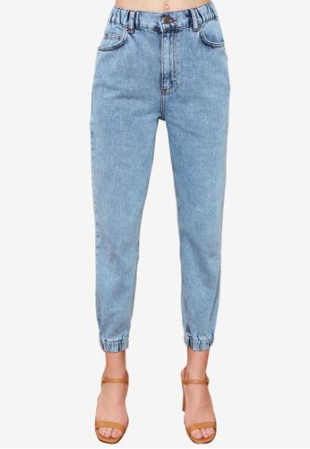 Trendyol blue High Waist Jogger Jeans C0842AA4A8111DGS_1