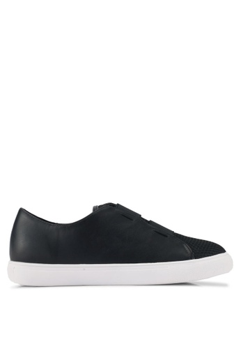 Something Borrowed black Elasticated Slip-ons 08775SHFCA0151GS_1