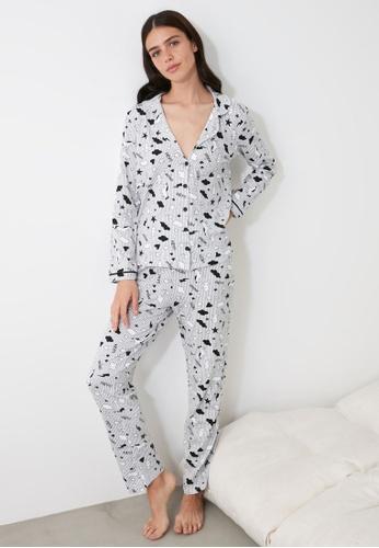 Trendyol grey Gray Knit Pajama Set 764F4AA841487BGS_1