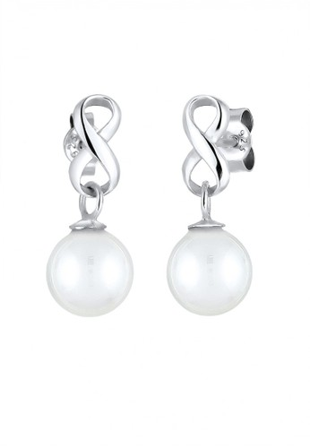 Elli Germany silver Perhiasan Wanita Perak Asli - Silver Anting Infinity Mutiara EL948AC95UYIID_1