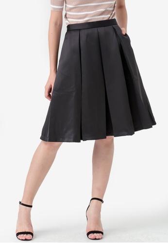 Kodz black Pleated Mini Skirt E9795AAB5D73E9GS_1