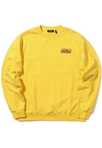 "Fivecm yellow ""ISOLATION"" optical illusion sweatshirt 8A49BAA1A6EA2BGS_1"