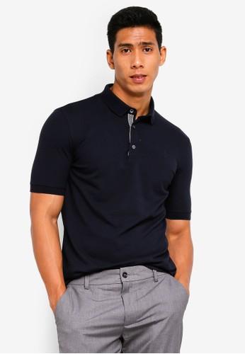 Sparrow Green navy Max Mercerized Cotton Polo Shirt E5BBCAABF7DA2FGS_1