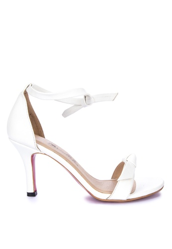 CARMELLETES white Heels With Knot Detail High Heels A8811SHF737C58GS_1