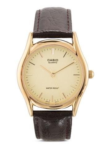 Casio brown Casio Brown Leather Men's watch MTP1094Q-9A CA843AC38MIBMY_1