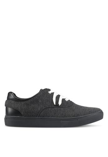 JAXON black Mixed Materials Casual Sneakers 0B870SH360F889GS_1