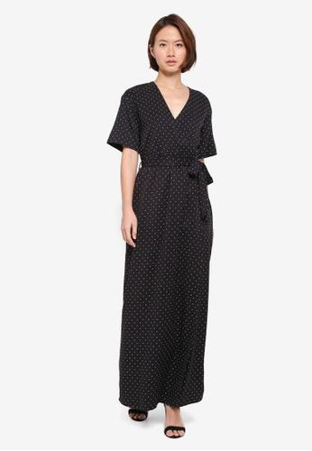 ZALORA black Kimono Maxi Dress 9BDE7AA3A6792DGS_1