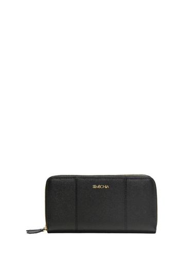 SEMBONIA black Genuine Leather Wallet (Black) SE598AC0SS2EMY_1
