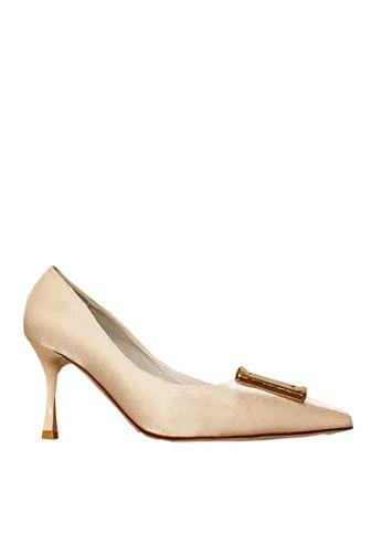 Twenty Eight Shoes 米褐色 方形裝飾扣高跟鞋 VL501912 17455SH75691DBGS_1