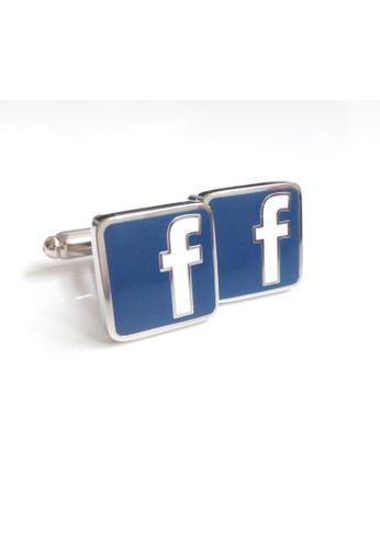 The Little Link Cufflinks blue Facebook cufflinks TH089AC0G4XCSG_1