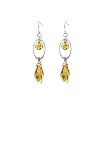 Glamorousky yellow Vintage Oval Earrings with Yellow and Yellow Copper Austrian Element Crystals 5250DACBE8DEC9GS_1