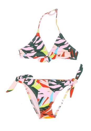 Shiwi red and multi Girls Frangipani Triangle Bikini 7B445KA79BD6F5GS_1