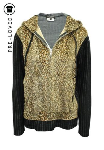 Comme Des Garçons multi Pre-Loved comme des garçons Woolen Animal Print Hoodie 8EC18AA47AFA03GS_1
