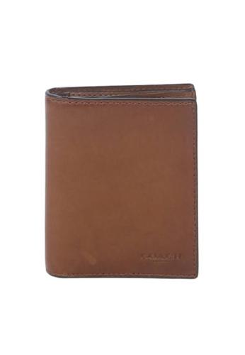 Coach brown Coach Slim 59671 Coin Wallet In Dark Saddle DF865ACA7CEC83GS_1