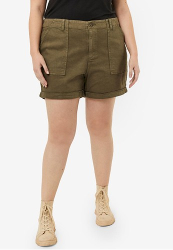 Vero Moda green Curve Normal Waist Shorts 138A1AAC7C1BA3GS_1