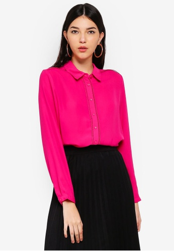 JACQUELINE DE YONG pink Grace Long Sleeve Shirt 6DF24AA742639FGS_1